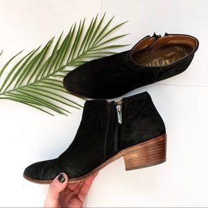 Sam Edelman | Black Suede Ankle Booties